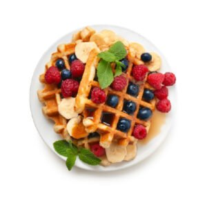 Image of a Waffle with Fresh Fruits